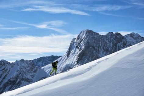 Zugspitze Skitour Aufstieg 1