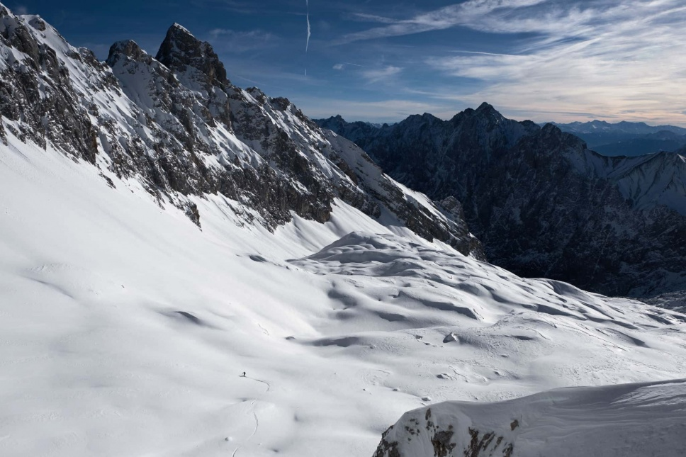 Zugspitze Skitour Skifahren 7